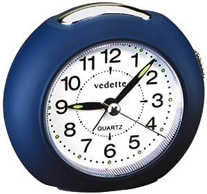 Vedette 204.1013.09 - Reloj despertador analógico de cuarzo unisex con correa de tela, color negro de Vedette