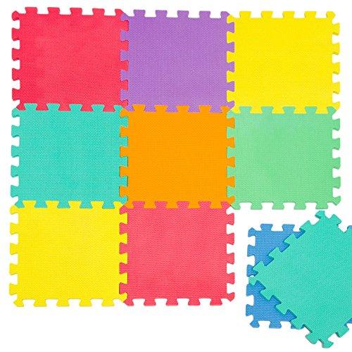 Tappeto Puzzle per Bambini | in Soffice Schiuma EVA | Tappetino Gioco per la Cameretta | a Quadri Multicolore