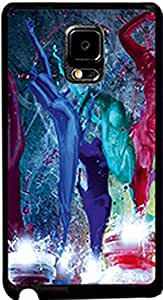 Printstore taxture blue Back Cover Designer Case for Samsung galaxy note edge