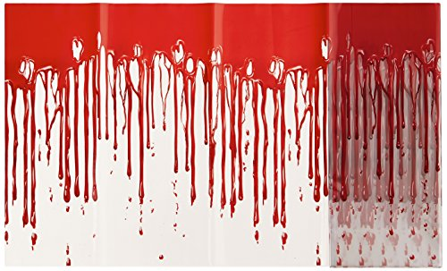 Beistle 00533 Dripping Blood Poly Decorating Material, 12-Inch by 25-Feet - 1
