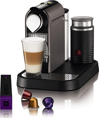 Fantastic Deal! Nespresso C121-US4-TI-NE1 Espresso Maker with Aeroccino Milk Frother, Titan