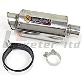 Lextek Stubby Exhaust Silencer with Link Pipe for Suzuki GSF600 Bandit 1997
