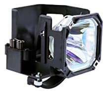 Electrified Replacement Lamp with Housing for Mitsubishi Models WD52526, WD52528, WD62527, WD52527, WD62526, WD62528