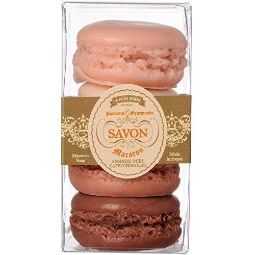 Savons Macarons Gourmands Coffret de 4 Parfums amande miel café et chocolat La petite épicerie de Paris 34-2S-802