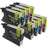 LC12-4PK 4色セットx2+BK1個 9個セット brother(ブラザー)対応 高品質互換インクカートリッジ 残量表示機能対応 (JAN:4571498425645)