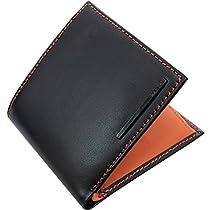 ZARIO ZA-1100 馬革 牛革 折財布 【ブラック×ブラウン】