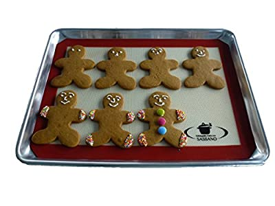 Silicone Baking Mat - Set of Two Non Stick Easy Clean Baking Mats Guaranteed By Our Award Winning Chef - Free eBook - Fits US ½ size Baking Tray Perfectly - Purchase with Confidence With Our Lifetime Guarantee