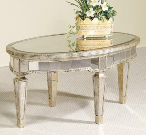 Empire Mirrored Coffee Table: MIRRORED GLASS COFFEE TABLE : COFFEE TABLE
