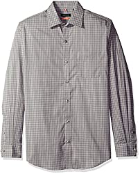 Van Heusen Men's Long Sleeve Traveler Stretch Non Iron Shirt, Grey Mirage, Small