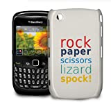 Rock Paper Scissors Lizard Spock Phone Hard Shell Case for BlackBerry Q10 Z10 Bold Curve Torch & more - BlackBerry Curve 8520/9300