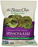 The Better Chip Tortilla Chips, Spinach and Kale with Sea Salt, 2 Ounce (Pack of 18)