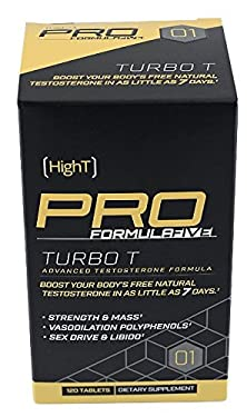 buy High T Pro Turbo T - All Natural Testosterone Booster With Fenugreek - 30 Day Supply (120 Ct)