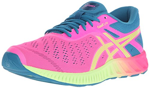 ASICS Women's Fuzex Lyte Running Shoe,Hot Pink/Sharp Green/Ocean Depths,9.5 M US