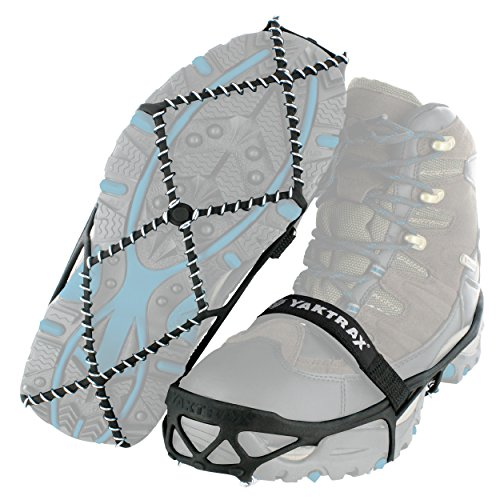 Yaktrax Pro Traction Cleats for Walking, Jogging, or Hiking on Snow and Ice, Small (Shoe Ice Grippers compare prices)