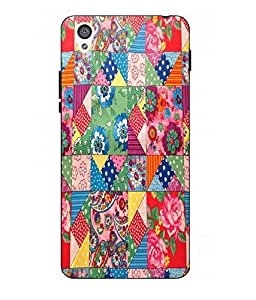 Case Cover Printed Multicolor Hard Back Cover For One Plus X