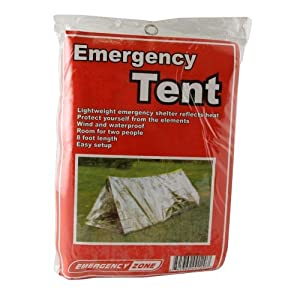 Emergency Shelter Tent, Reflective Tube Tent, Cold Weather Emergency Shelter, Emergency Zone Brand by Emergency Zone