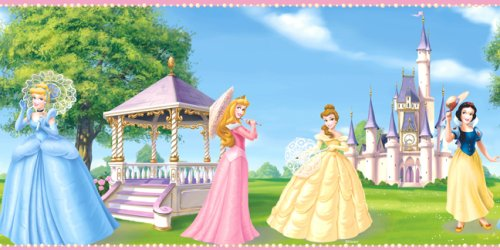 Blue Mountain Wallcoverings DF059191BFP Fantasy Princess Prepasted Wall Border - 1
