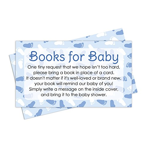 Books for Baby Shower Request Cards - Blue Boy Theme (Set of 20) (Baby Shower Themes compare prices)