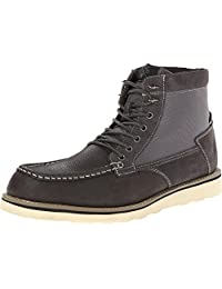 Stacy Adams Men's Maximus Gray Milled Leather/Suede & Mesh Boot 14 D (M)