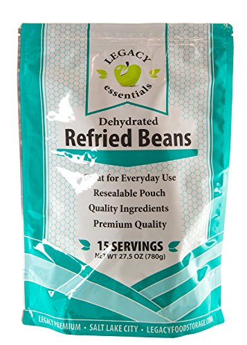 Legacy Essentials Freeze Dried Refried Beans - 15 Year Shelf Life for Emergency Survival Food Storage Supply - Disaster Preparedness (Quantity 1) (Freeze Dried Refried Beans compare prices)