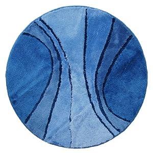 badteppich badematte rund durchmesser 80 cm royal blau k che haushalt. Black Bedroom Furniture Sets. Home Design Ideas