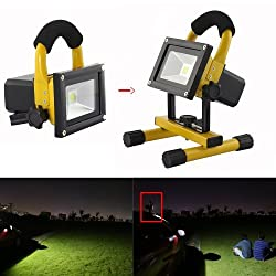 GadgetZone(US Seller) Rechargeable 20W LED Flood Light Movable Lamp Outdoor Working Light Work Light Waterproof