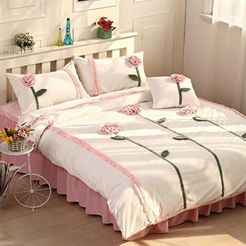 Sunshine Pink And White Duvet Cover Set Princess Bedding Girls Bedding Women Bedding Gift Idea, Queen Size front-966310