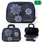 Laptop carrying bag with handles and BONUS shoulder strap included- Navy blue-Universal fit for Dell XPS 14z
