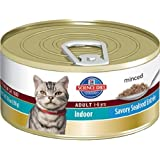Hill's Science Diet Adult Indoor Cat Savory Seafood Entree Minced Cat Food, 5.5-Ounce Can, 24-Pack