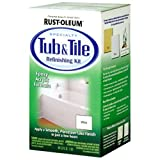 Rust-Oleum 7860519 Tub & Tile Refinishing Kit for Bathtubs, 2-Part Epoxy, Color - White