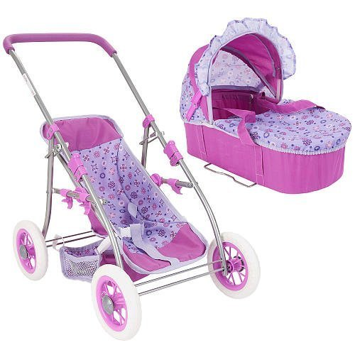 You Me 3 in 1 Convertible Doll Pram Purple by Toys R Us