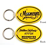 MOONEYES Oval Rubber Key Ring ★ ムーンアイズ オーバル ラバー キーリング
