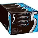 Five Sugar Free Gum, Cobalt Peppermint, 15 Piece Packages (Pack of 10)