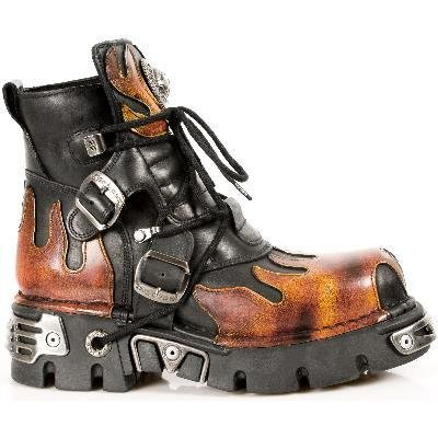 New Rock Metallic Boots Unisex - Red - Euro 40
