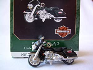 1999 Harley Davidson Electra Glide Motorcycle Miniature Collectors Series Christmas Ornament