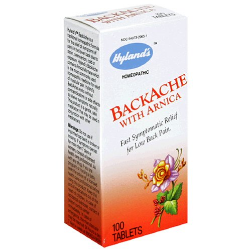 Buy Hyland's BackAche with Arnica, Tablets, 100 tablets (Pack of 3) (Hyland's Homeopathic, Health & Personal Care, Products, Health Care, Pain Relievers, Alternative Pain Relief)
