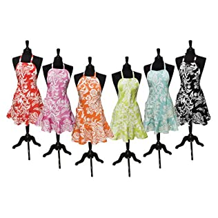 Felicia Damask Apron Collection