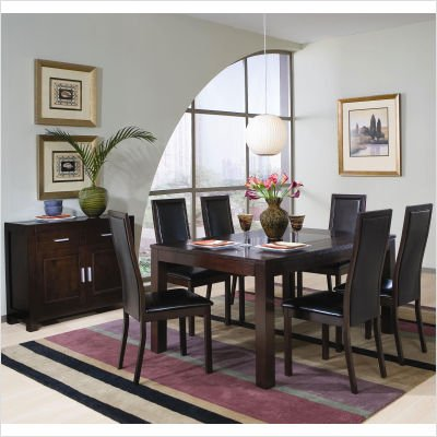 bundle 78 menifee rectangular dining table set in cappuccino 8 pieces