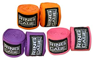 Buy Boxing and MMA Mexican Stretch Handwraps 180 inches long - Pack of 3 Pairs by Ring to Cage
