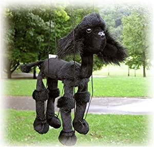 "Black Poodle 16"" Animal Marionette by Sunny & Co Toys"