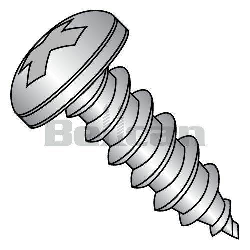 #8-32x3//8 Pan Phillips Thread Cutting Screws Type F Steel Zinc Plated 40