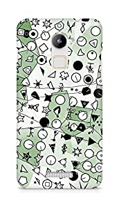 Amez designer printed 3d premium high quality back case cover for Coolpad Note 3 Lite (Symbolic green crystallization)