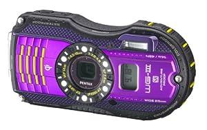 (4 星)Pentax Optio WG-3 宾得1600万像素紫色GPS定位防水数码相机$260,