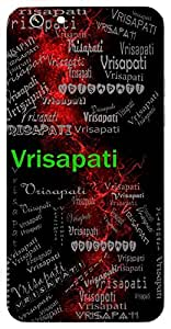 Vrisapati (Lord Shiva) Name & Sign Printed All over customize & Personalized!! Protective back cover for your Smart Phone : Moto G-4-Plus
