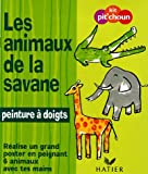 Les animaux de la savane : Ralise un grand poster en peignant 6 animaux avec tes doigts