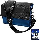 Blue Nylon Travel Bag For Olympus OM D Series | PEN Series | Interchangeable Lens Series Advanced System Camera