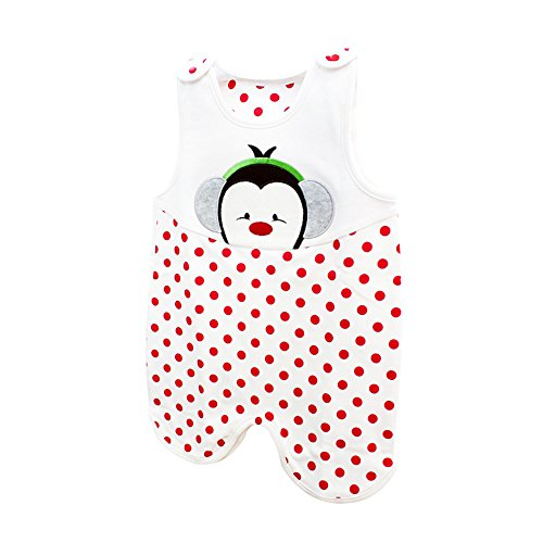 Cute Baby SleepSack 100% Cotton Wearable Blanket (6 Months, Red)