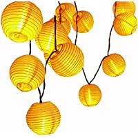 LUCKLED Outdoor Fairy Lantern Solar String Lights 19.7ft (Warm White)