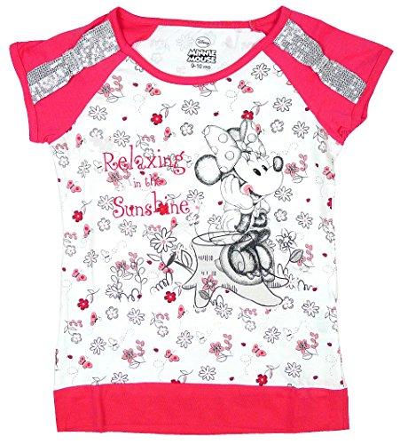 De-equitacin-para-nia-con-diseo-de-lentejuelas-y-diseo-de-flores-de-algodn-para-el-hombro-Minnie-Mouse-T-camiseta-de-manga-corta-en-la-parte-superior-y-de-distintos-tamaos-3-10-aos