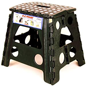 Black Ez Foldz Step Stool / Bench, 13'' High -Affordable Gift for your Loved One! Item #DCHI-XIM-ST32-BLA from All4LessShop